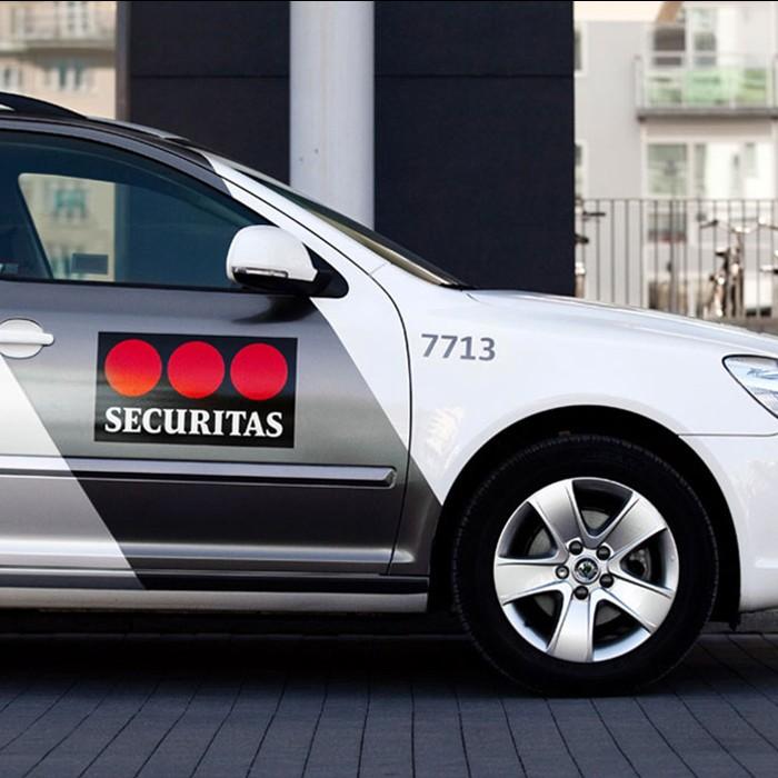 Polep zásahového vozu Securitas