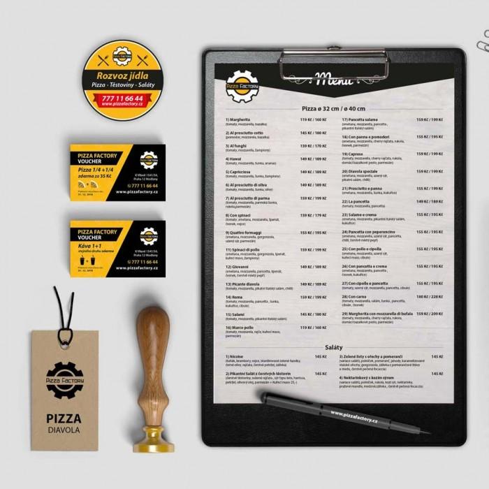 pizzafactory corporate identity