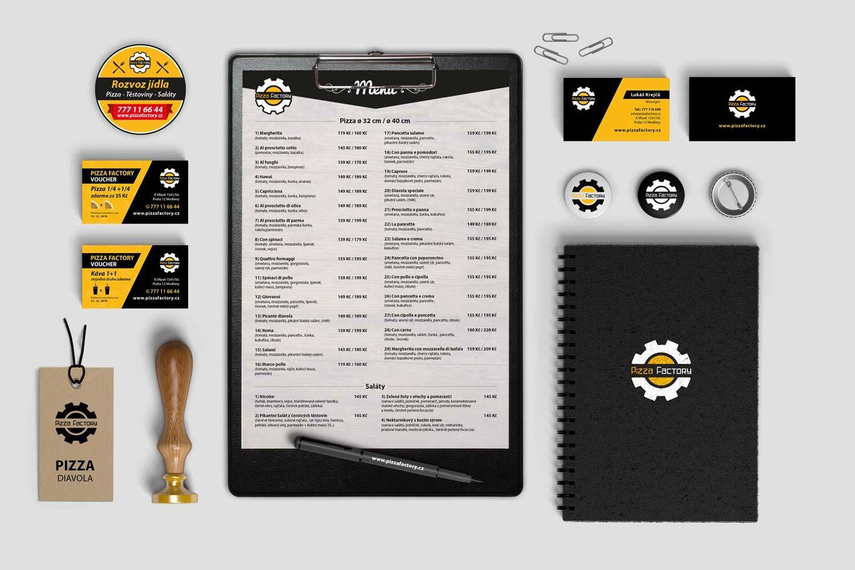 Návrh corporate identity pizzafactory