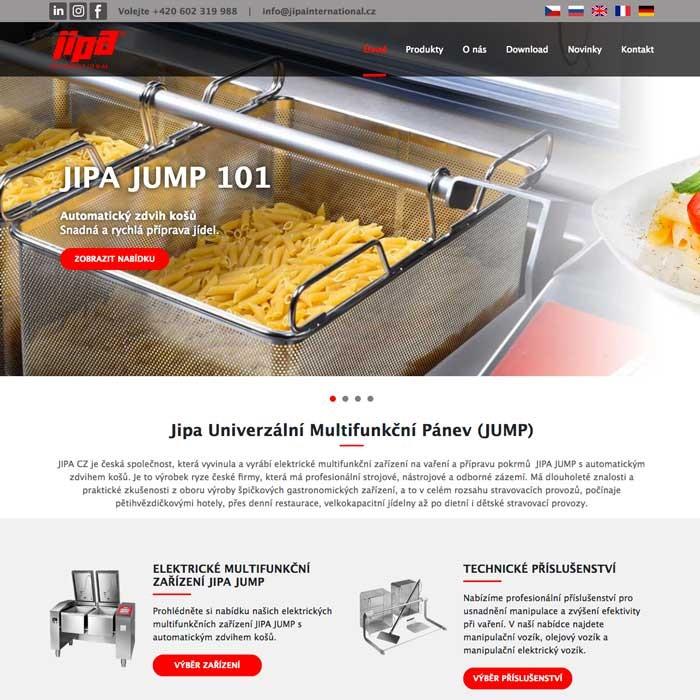 Tvorba webových stránek gastronomická technika
