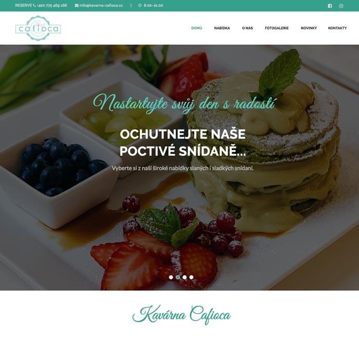 Tvorba webových stránek - kavárna Praha