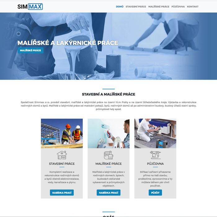 tvorba webových stránek stavební firmy