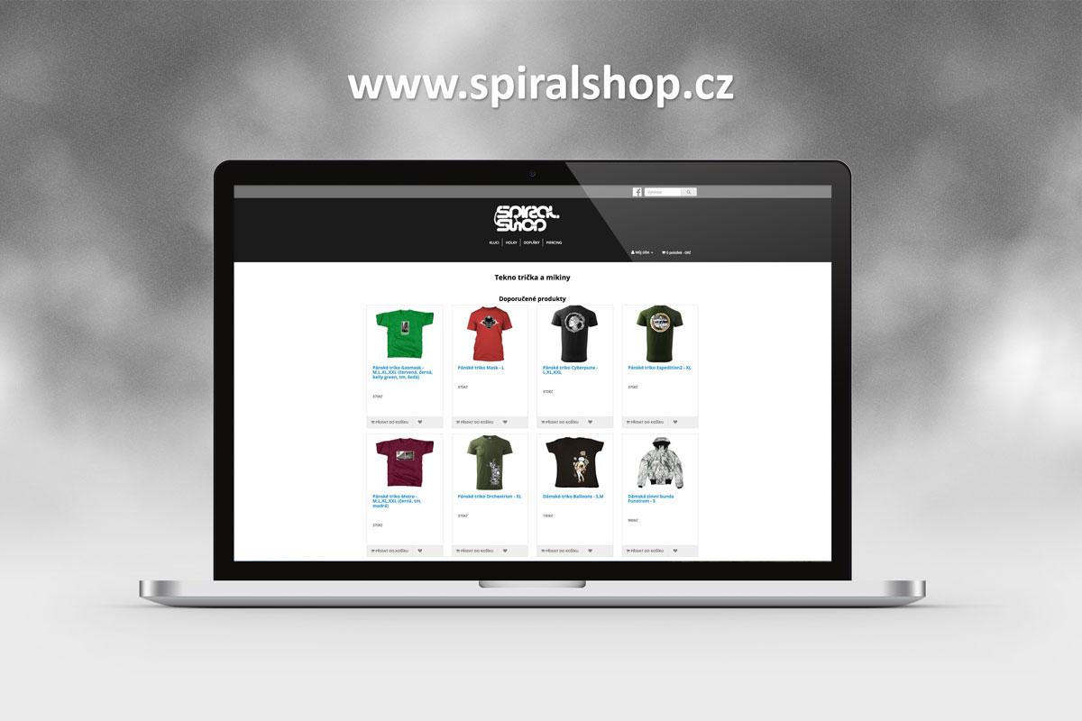 tvorba webových stránek spiralshop